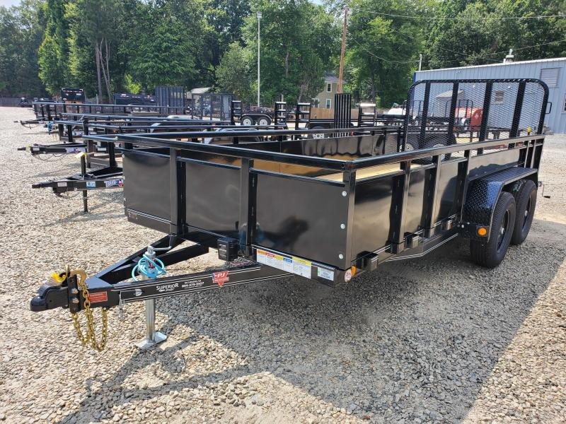 2021 PJ Trailers 16ft UK 10K Utility Trailer w/ 4ft Fold Up Gate