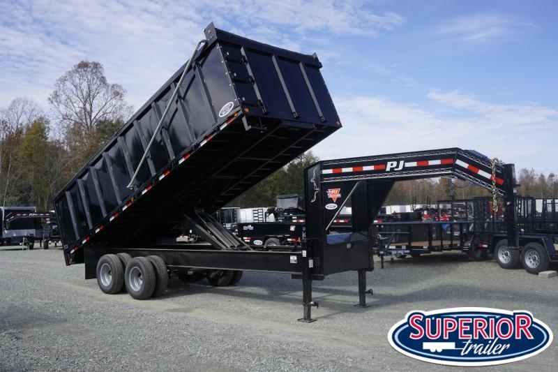 2020 PRE-OWNED PJ Trailers 8x20 DD Gooseneck Dump w/ 4' Sides and 12K Axles