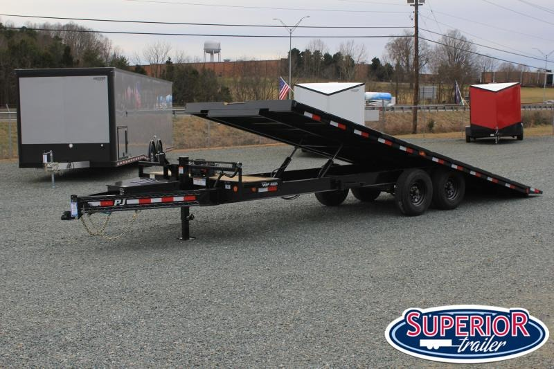 2021 PJ Trailers 24 T8 16K Tilt Equipment Trailer