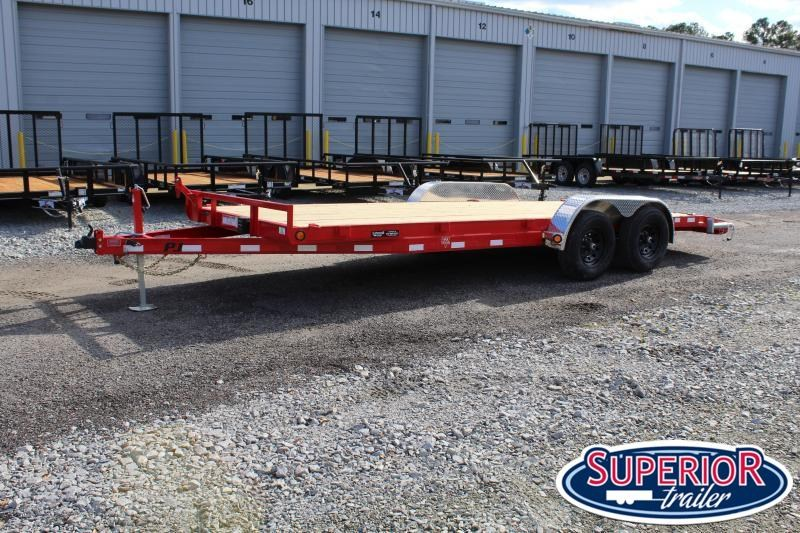 2021 PJ Trailers 20ft CE 10K w/ Slide in Ramps
