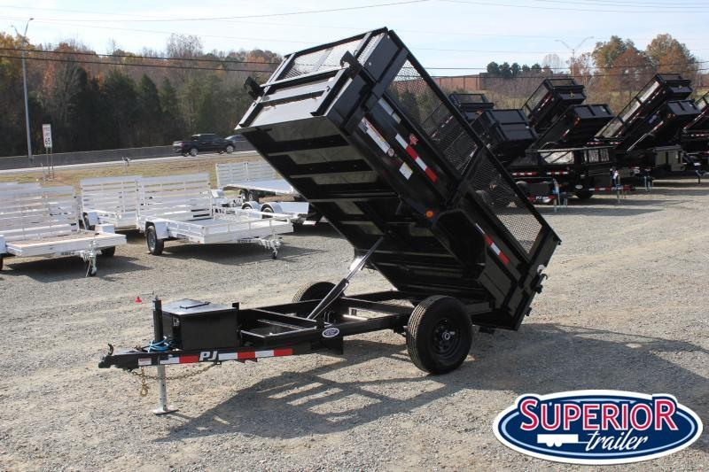 "2021 PJ Trailers 5X10 D5 5K Dump w/ 18"" Extended Sides"