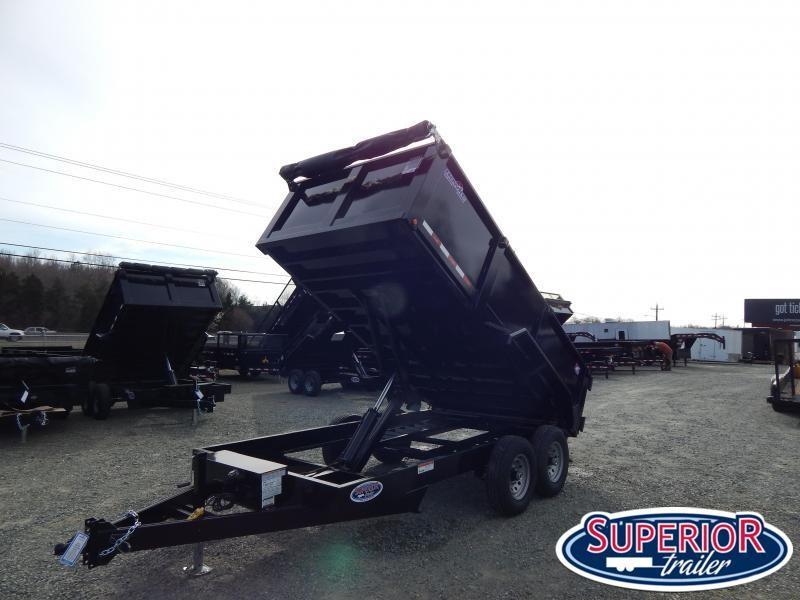 2020 Hawke 7x14 12K Dump w/ 3' Sides Ramps and Tarp