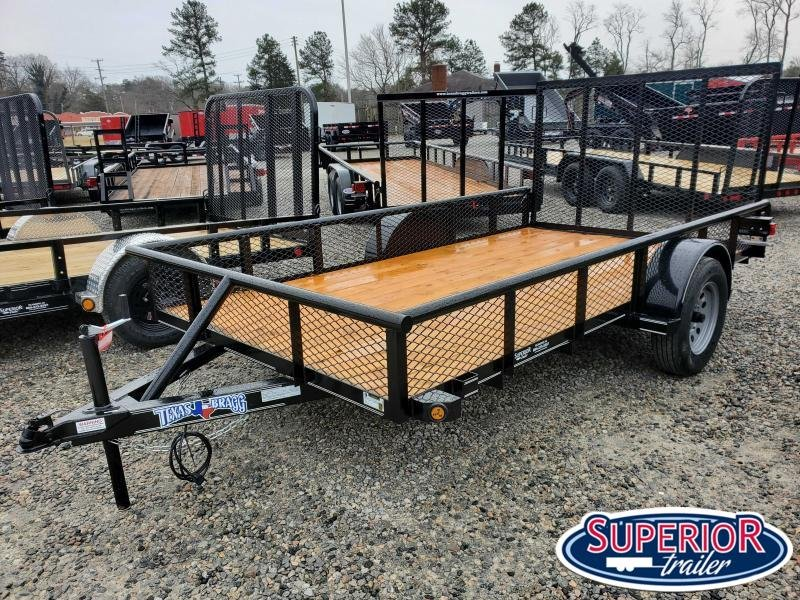 2021 Texas Bragg 6X12P w/ Expanded Metal Sides & Gate