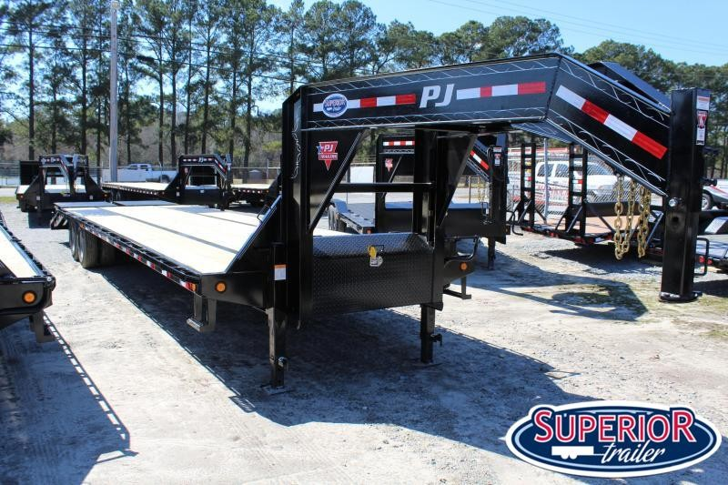 2019 PJ Trailers 35ft Low Pro Gooseneck w/ 12K Axles and Monster Ramps