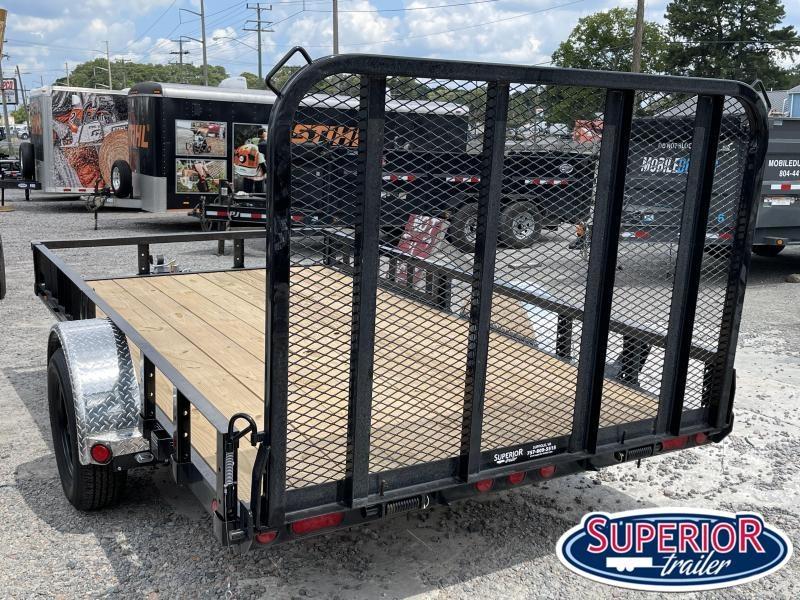 2022 PJ Trailers 6x12 U7 w/ Side ATV Ramps and Gate