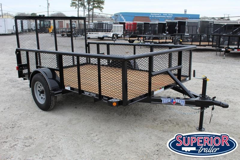 2020 Texas Bragg 6x10P w/ 2ft Expanded Metal Sides & Gate
