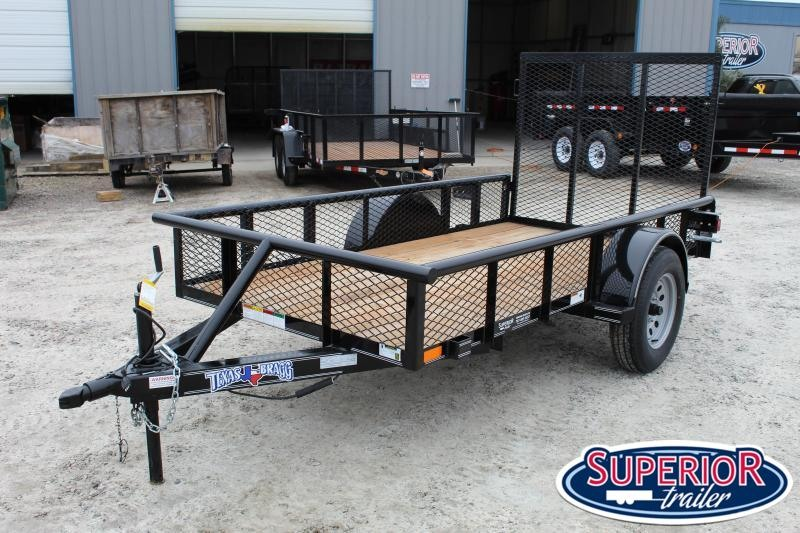 2021 Texas Bragg 5X10P w/ Expanded Sides & Gate