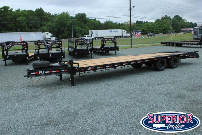 2021 PJ Trailers Low Pro 30 PL Pintle Flatbed w/ Disc Brakes and Monster Ramps