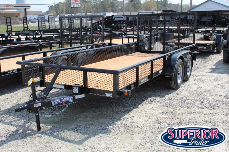 2020 Texas Bragg Trailers 16P w/ Expanded Metal Sides & Gate