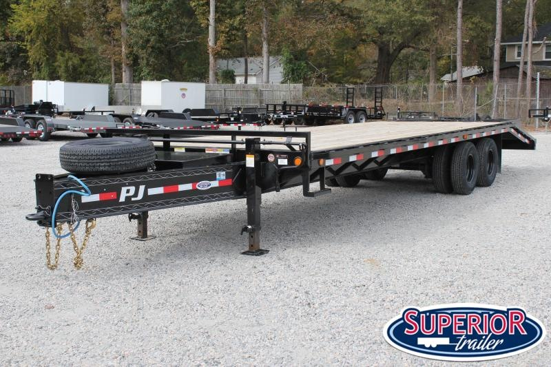 2019 PJ Trailers 28ft PD 24K w/ 2 Flip Over Ramps