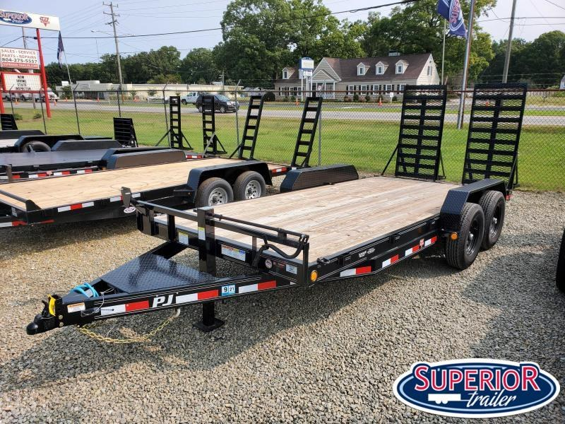 2020 PJ Trailers 18ft CC 14K w/ 31 x 66 HD Fold Up Ramps