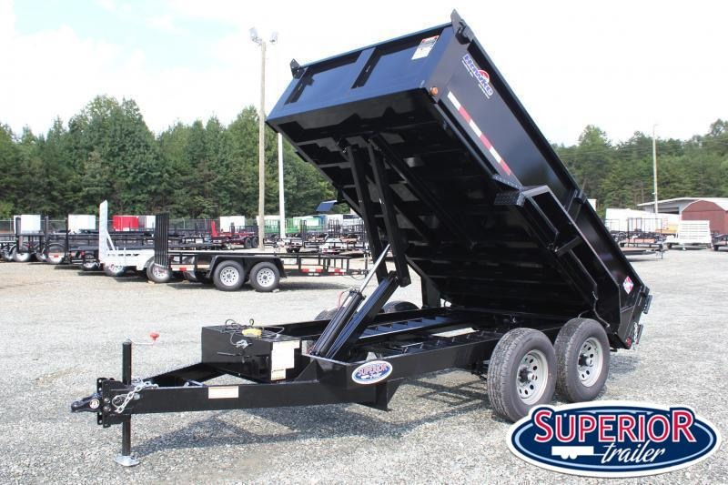 2021 Hawke 6X12 10K Dump w/ Spreader Gate & Ramps