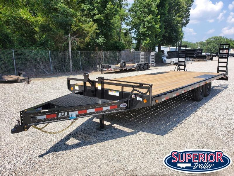 2021 PJ Trailers 24ft F8 14K Deckover w/ Fold Up Ramps
