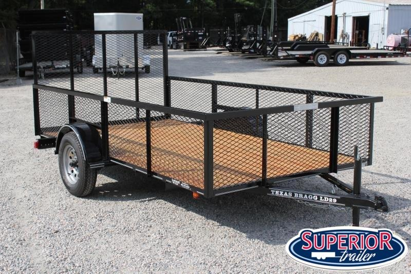 2020 Texas Bragg 6x12LD w/ 2ft Expanded Sides and Gate
