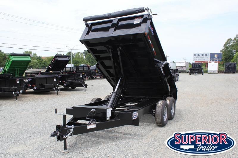 2021 Hawke 6X12 10K Dump w/ Spreader Gate Ramps & Tarp