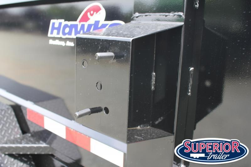 2022 Hawke 6X12 10K Dump w/ Spreader Gate, Ramps and Tarp