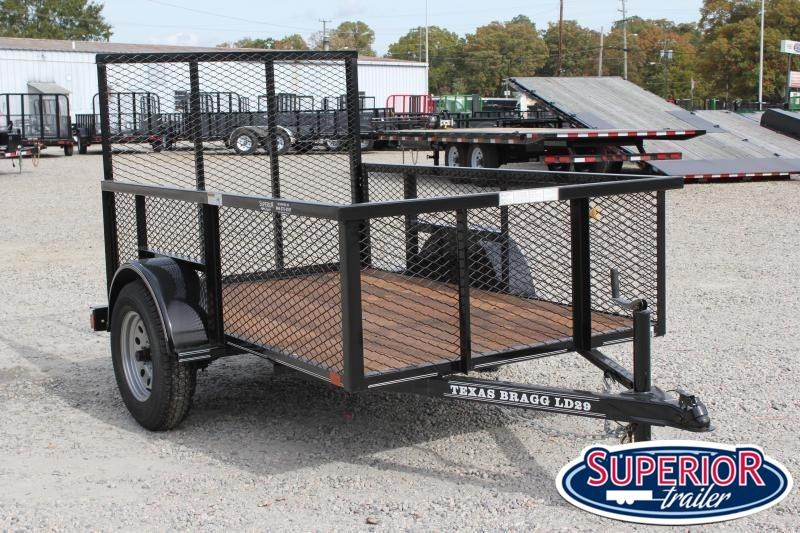 2020 Texas Bragg 5x8LD w/ 2ft Expanded Sides & Gate