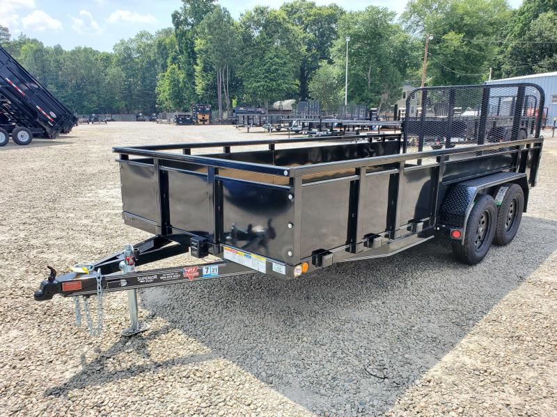 2021 PJ Trailers 16ft UK 7K Utility Trailer w/ 4ft Fold Up Gate