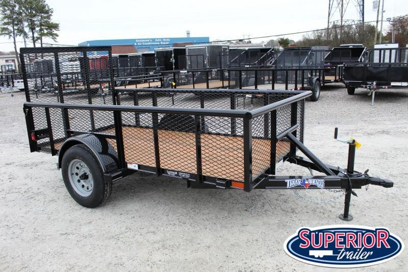 2020 Texas Bragg 5x10P 2ft Expanded Sides w/ Gate