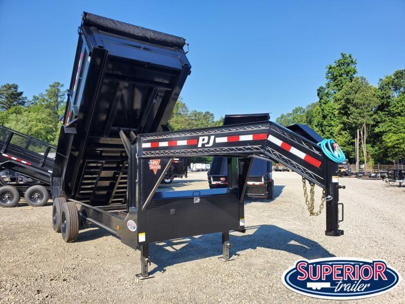 2021 PJ Trailers 7X16 DE 20K Gooseneck Dump