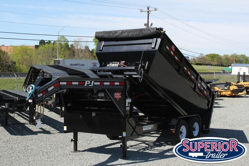 2021 PJ Trailers 7X14 DR Gooseneck Roll Off Dumpster Trailer