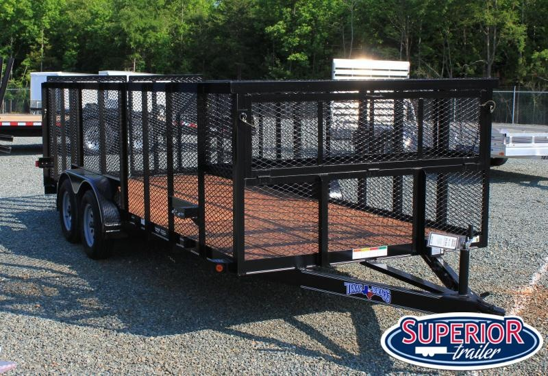 2021 Texas Bragg Trailers 18' LST w/ 4' Expanded Sides & HD Split Gate