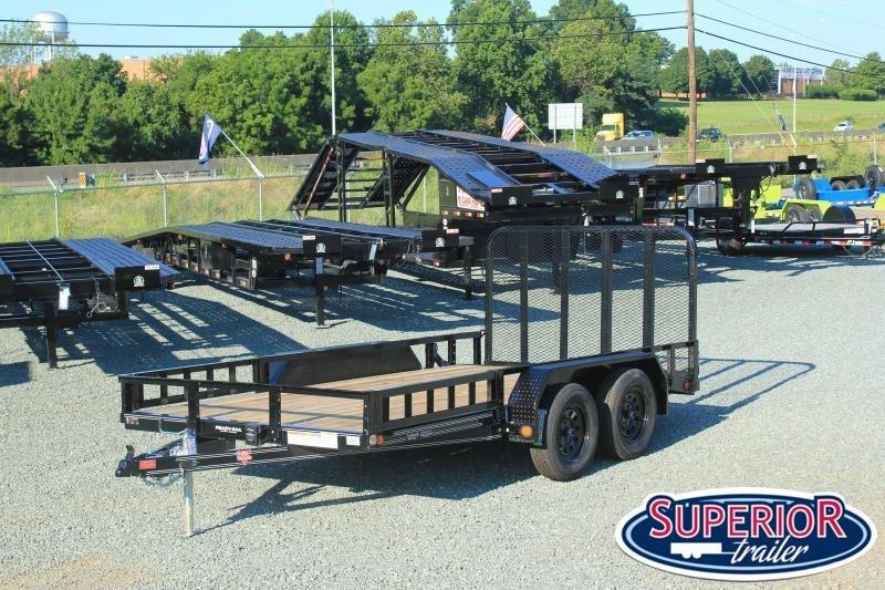 2021 PJ Trailers 7x14 UL 7K w/ Side ATV Ramps and Gate
