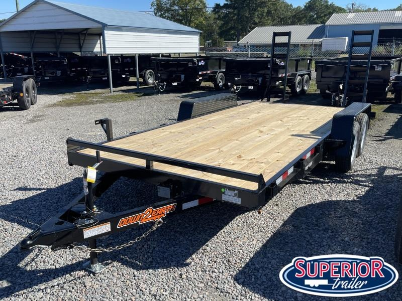 2021 Down 2 Earth 18ft 7K w/ Fold Up Ramps