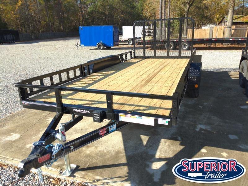 2021 PJ Trailers 16ft UL 7K Utility Trailer w/ ATV Ramps & Gate