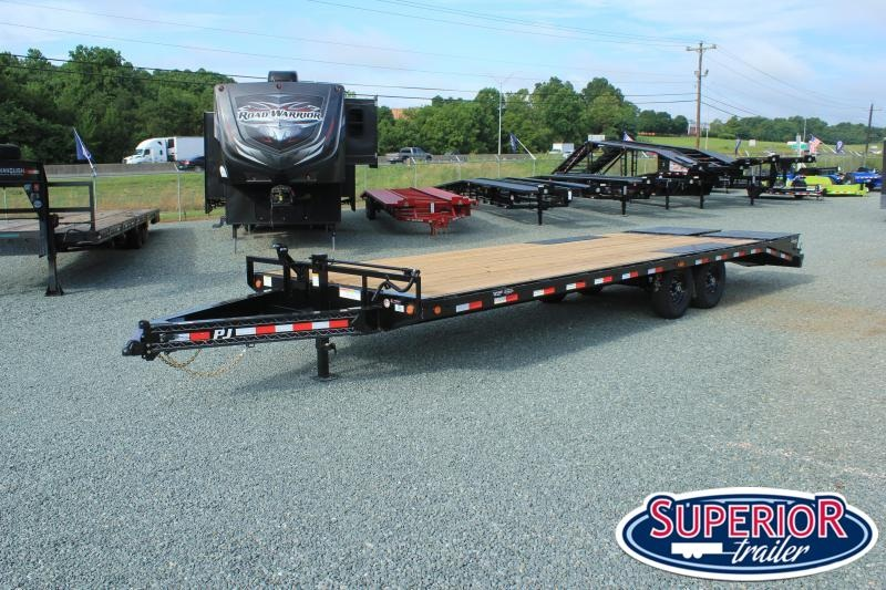 2019 PJ Trailers 26 F8 14K Deckover w/ Monster Ramps