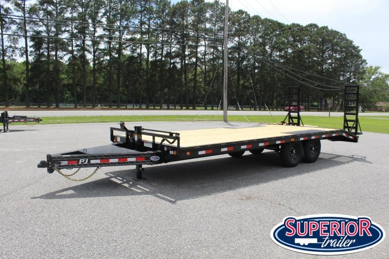 2021 PJ Trailers 22ft F8 14K Deckover w/ Fold Up Ramps