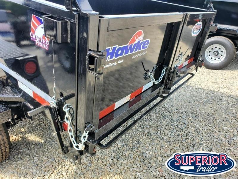 2022 Hawke 6X12 10K Dump w/ Spreader Gate Ramps & Tarp