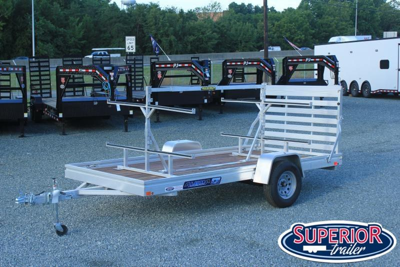 Aluma 6812ESW w/ Tailgate and Canoe Rack