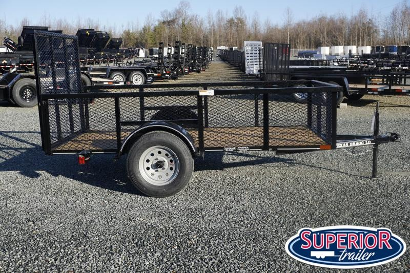 2021 Texas Bragg 5x10LD w/ 2ft Expanded Sides and Gate