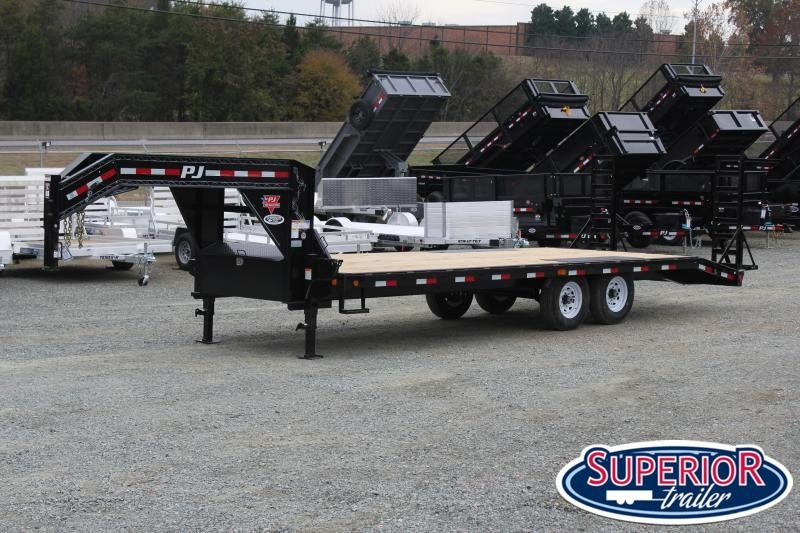 2020 PJ Trailers 24 F8 Gooseneck w/ Fold Up Ramps