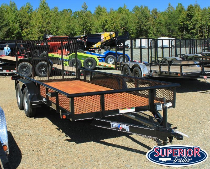2021 Texas Bragg Trailers 16P Expanded Sides & Gate