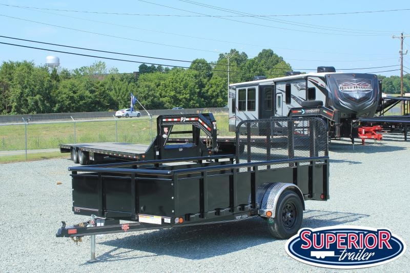 2021 PJ Trailers 6x12  U7 5K w/ Solid Sides and Gate