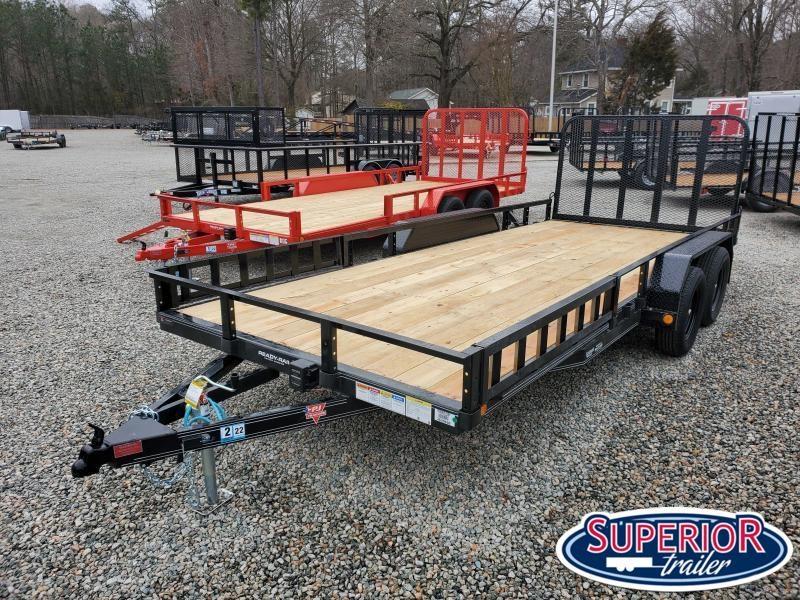2021 PJ Trailers 18ft UL 7K Utility Trailer w/ ATV Ramps & Fold Up Gate