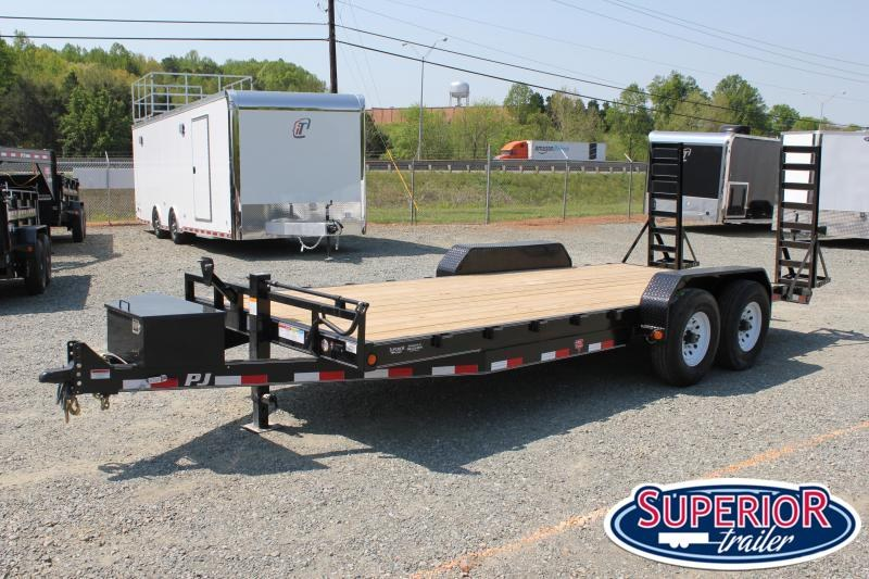 2020 PJ Trailers 20 CC 16K w/ Tongue Box and Fold Up Ramps