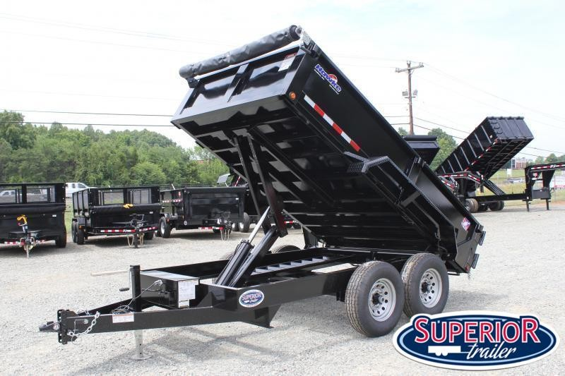 2021 Hawke 7x12 12K Dump w/ Spreader Gate Ramps and Tarp