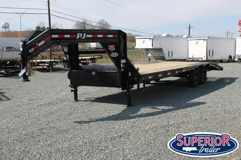 2020 PJ Trailers 26 LS Low Pro w/ Flip Over Ramps