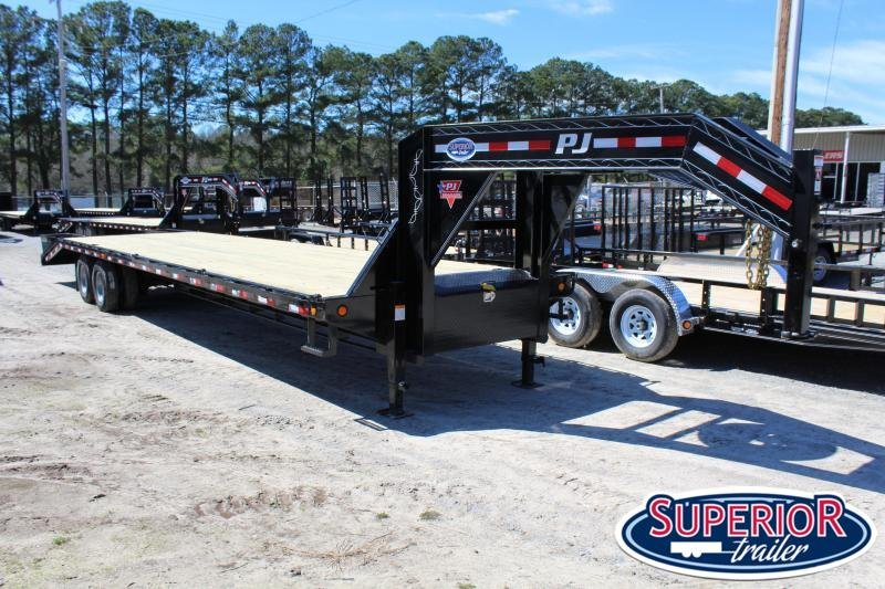 2020 PJ Trailers 36ft FD 25K Equipment Trailer w/Flip-over Ramps