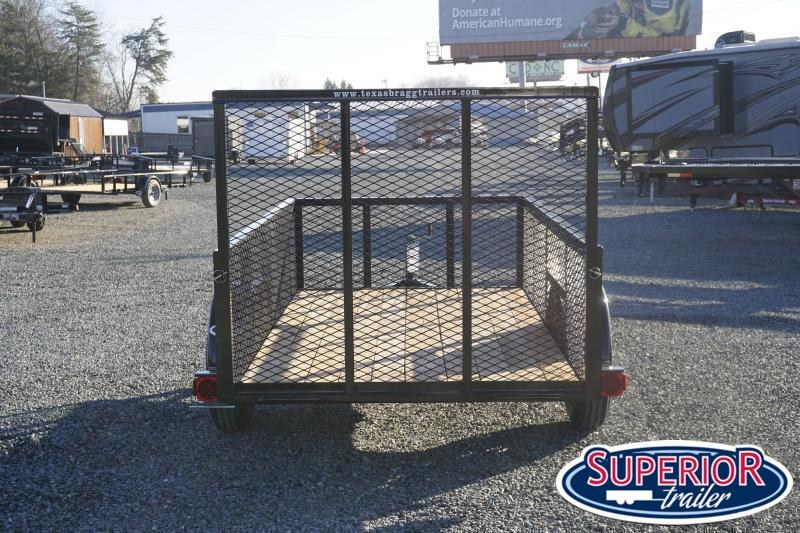 2020 Texas Bragg 5x10LD w 2ft Expanded Sides Gate