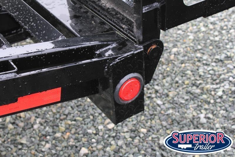 2022 PJ Trailers 24 F8 14K Deckover w/ Fold Up Ramps & Toolbox