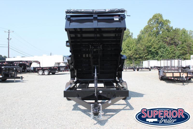 2021 Hawke 7x14 12K Dump w/ Spreader Gate Ramps & Tarp
