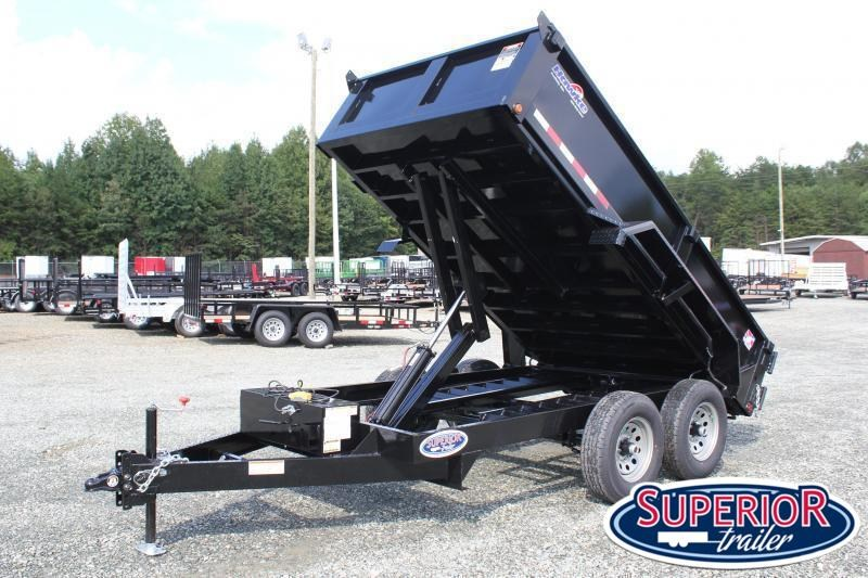 2021 Hawke 6X12 10K Dump w/ Spreader Gate and Ramps