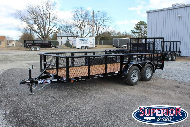 2021 Texas Bragg Trailers 16P w/ 2ft Expanded Sides and Gate