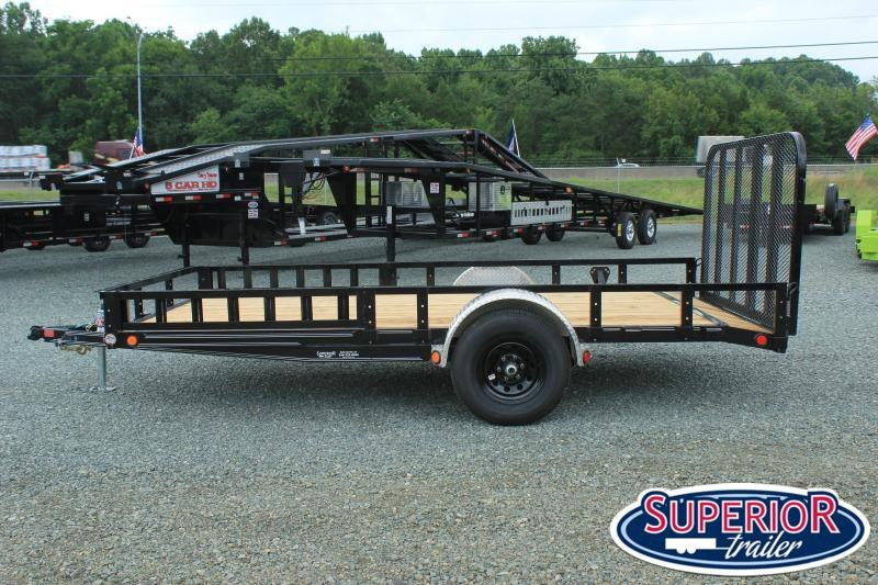2021 PJ Trailers 7x14 U8 5K w/ Side Ramps and Gate