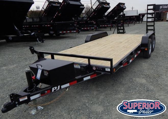 2019 PJ Trailers 18 CE 10K w/ Tongue Box and Fold Up Ramps