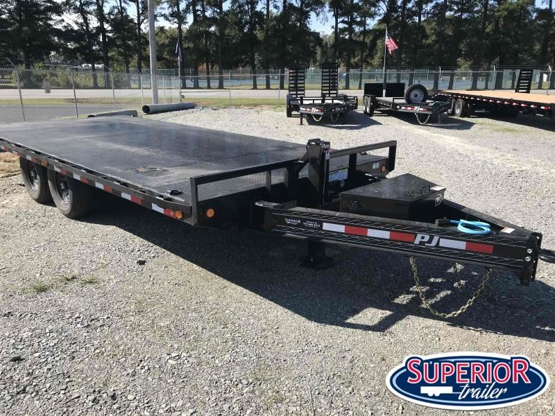 2021 PJ Trailers 18 F8 14K Deckover w Slide in Ramps